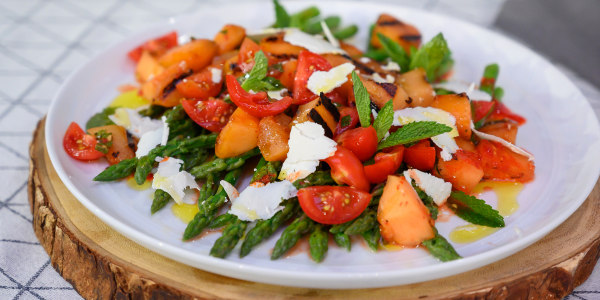 Giada's Grilled Melon Salad and Asparagus