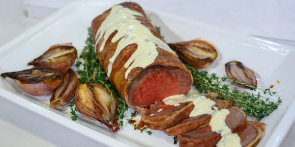 Bacon-Wrapped Beef Tenderloin
