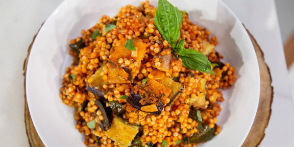 Israeli Couscous with Summer Vegetables