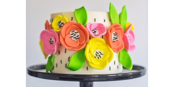 Lemon Flower Cake