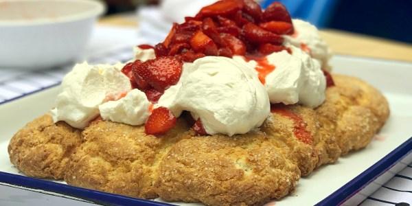 Martha Stewart's Strawberry Biscuit Sheet Cake