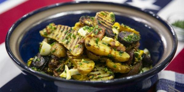 Grilled Tri-Color Fingerling Potato Salad