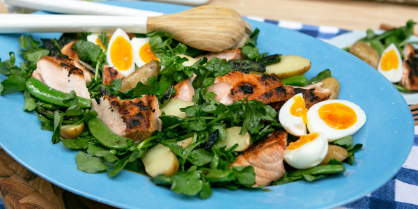 Martha Stewart's Salmon Salad with Sugar Snap Peas, Eggs and Potatoes