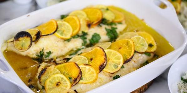 Citrus Baked Cod