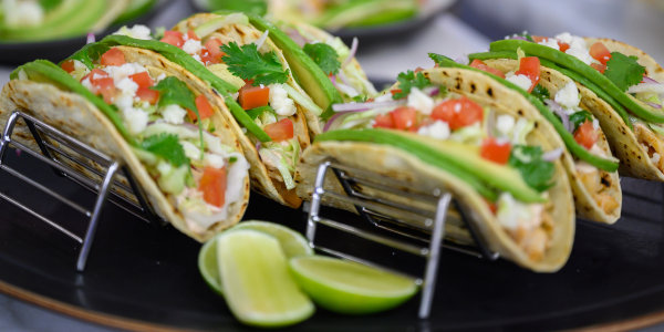 Fish Tacos with Cabbage Slaw and Crema