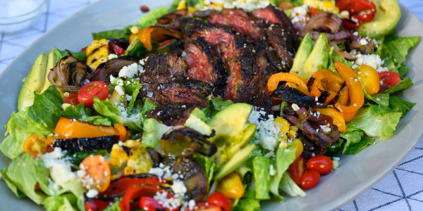 Southwestern Steak Salad with Grilled Corn