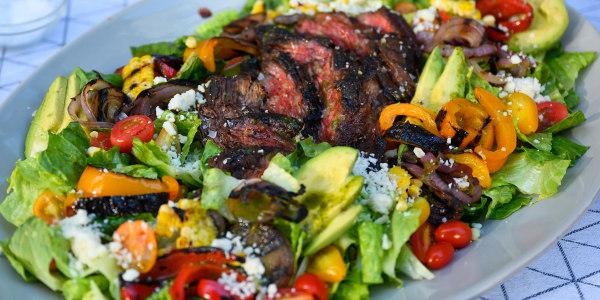 Southwestern Steak Salad with Grilled Corn