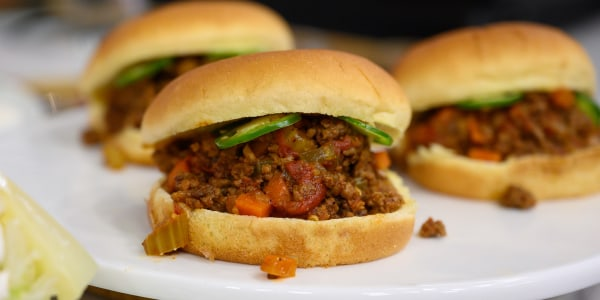 Spicy Sloppy Joes with Frozen Iceberg Salad