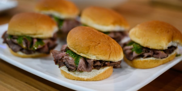 Mini Chimichurri Steak Sliders