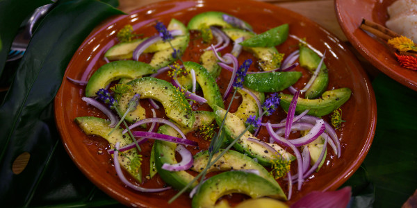 Avocado & Red Onion Salad