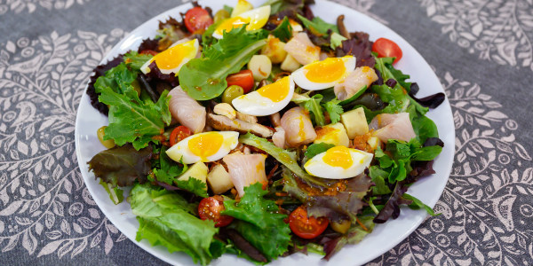 Indonesian Niçoise Salad with Ginger-Turmeric Vinaigrette