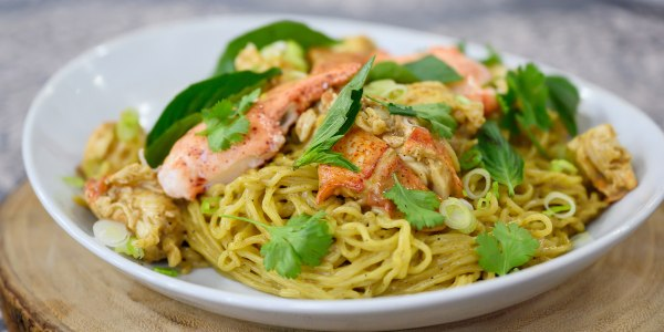 Lobster Noodles with Thai Basil