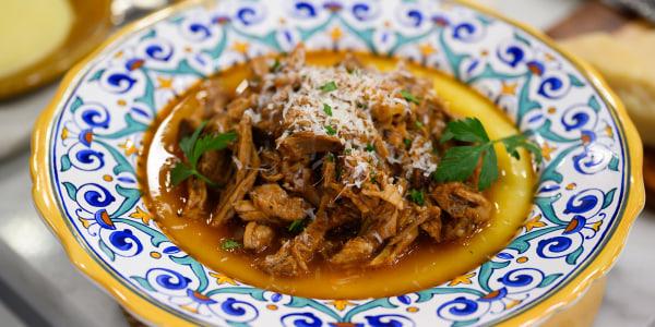 Italian Pulled Pork and Polenta