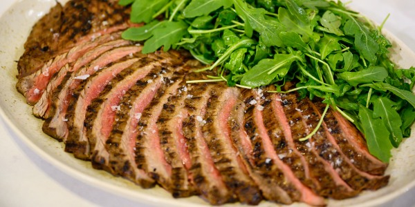 Italian Marinated London Broil with Arugula Salad