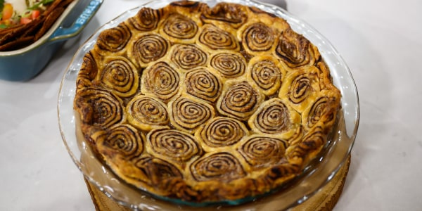Vegan Banana and Chocolate Swirl Pie