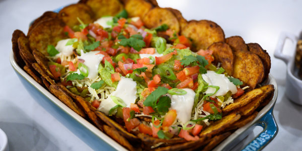 Vegan Loaded Potato Nachos