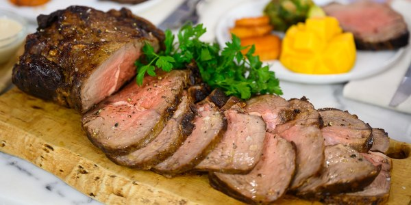 Sirloin Roast with Brussels Sprouts and Sweet Potato