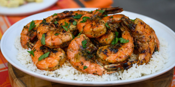 Grilled Peel-and-Eat Shrimp