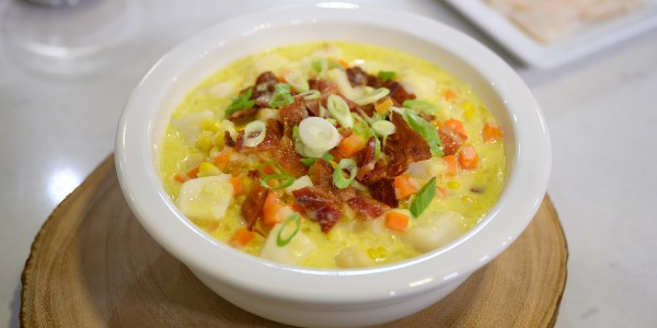 Katie Lee's Scallop Corn Chowder