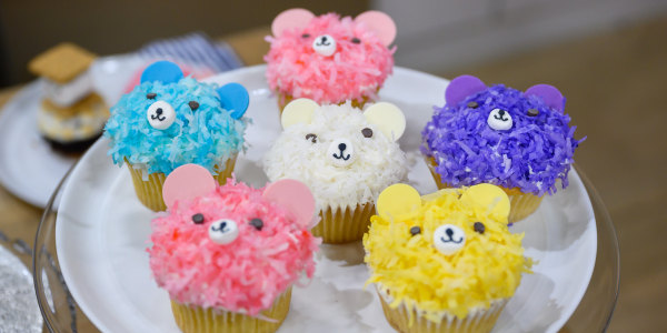 Coconut Bear Cupcakes