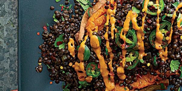 Tex-Mex Loaded Sweet Potatoes with Chipotle Tahini
