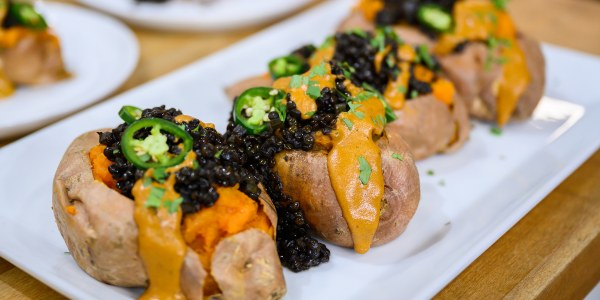 Tex-Mex Loaded Sweet Potatoes with Chipotle Tahini