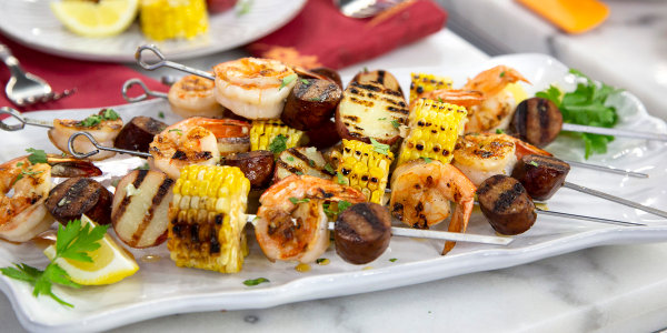 Low Country Shrimp Kebabs