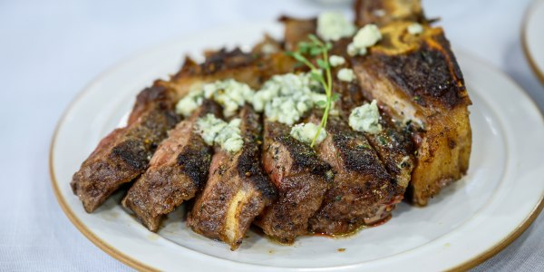 Bobby's Flay's Cast-Iron Steak with Brown Butter & Blue Cheese