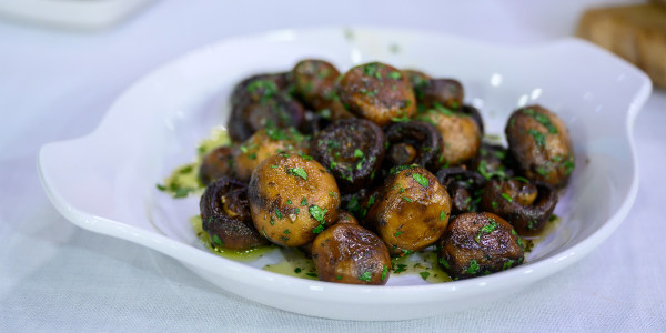 Bobby Flay's Roasted Button Mushrooms with Garlic-Parsley Butter