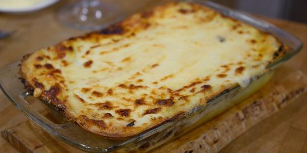 Mushroom and Robiola Cheese Lasagna