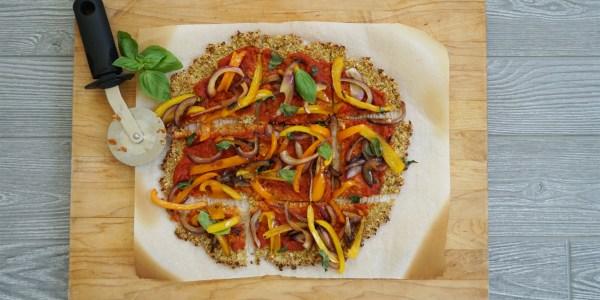 Easy Vegan Cauliflower Pizza Crust
