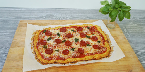 Traditional Low-Carb Cauliflower Pizza Crust