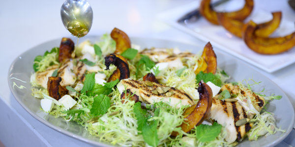 Roast Pumpkin and Fresh Mozzarella Salad
