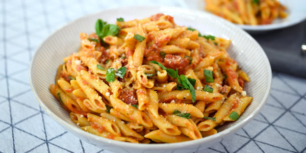 One-Pot Penne with Marinara Sauce