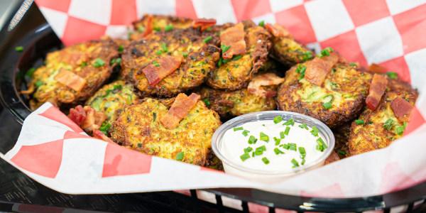Katie Lee's Pierogi-Inspired Zucchini Fritters
