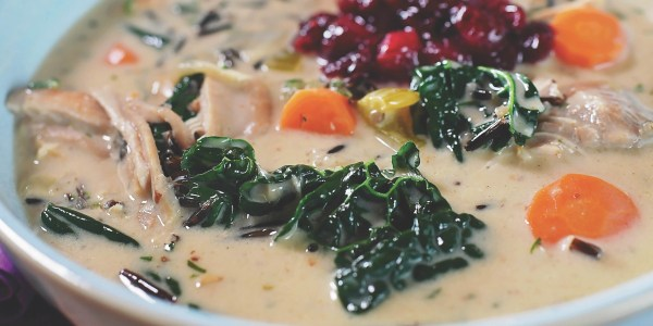 Creamy Chicken and Wild Rice Soup from Ree Drummond
