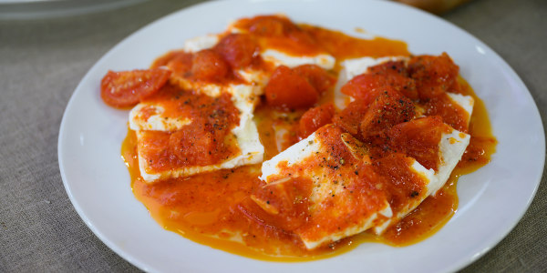 Spicy Tomato-Marinated Feta