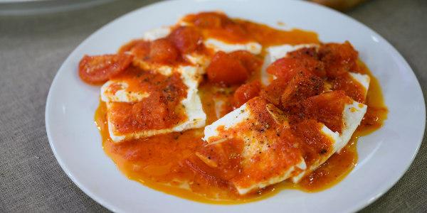 Spicy Tomato-Marinated Feta
