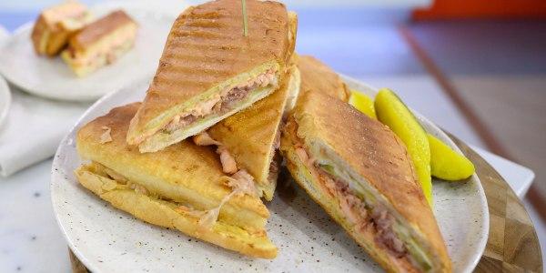 Salmon Cubano Sandwiches