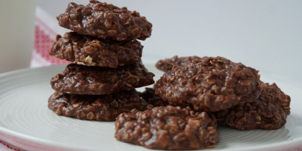 No-Bake Nutella Oat Cookies