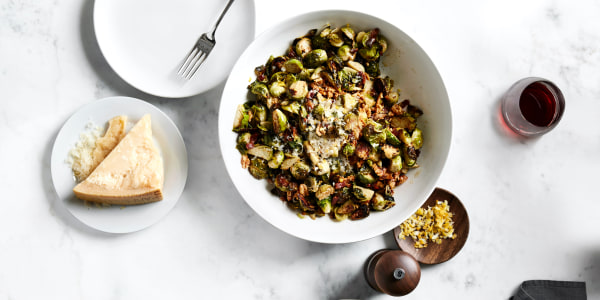 Dylan Dreyer's Crispy Bacon Brussels with Walnut-Parm Crunch