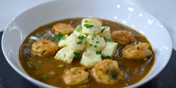 Shrimp Étouffée and Dumplings