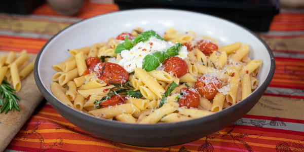 Lidia Bastianich's Penne with Spicy Tomato Sauce and Ricotta