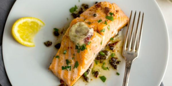 Melissa Clark's Salmon With Anchovy-Garlic Butter