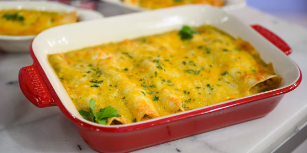 Green Turkey Enchiladas