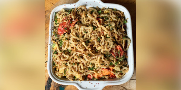 Green Bean and Lobster Casserole