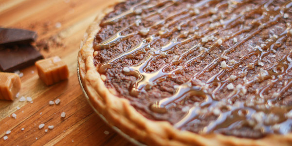 Salted Caramel Mocha Chess Pie