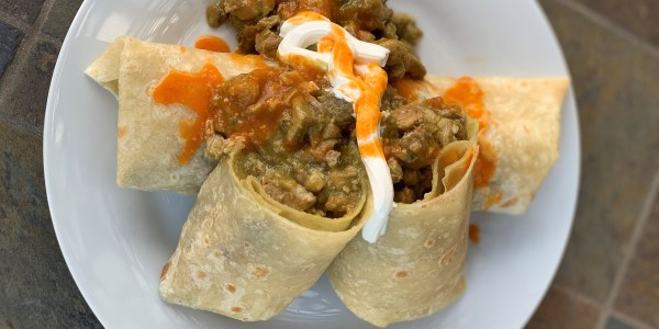 Green Chili Turkey Burritos