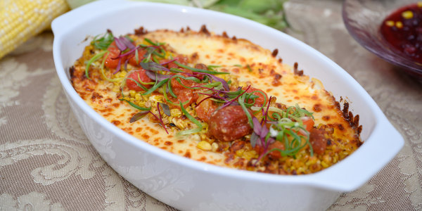 Cheesy Jersey Corn with Tomato Confit
