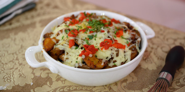 Basque-Style Potato Cracklins with Idiazabal Cheese
